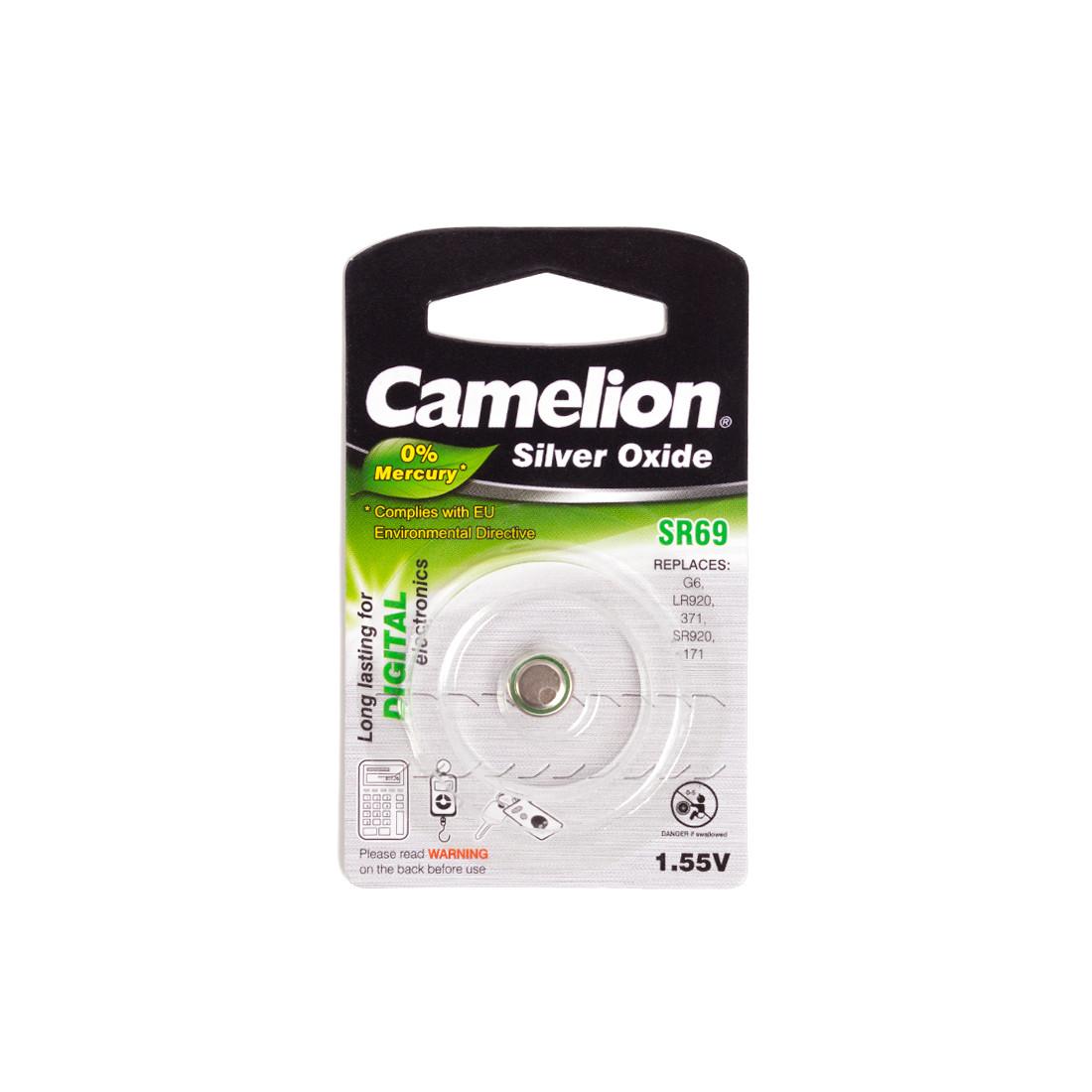 Батарейка CAMELION SR69-BP1(0%Hg)  Silver Oxide 1.55V 0% Ртути 1 шт. Блистер