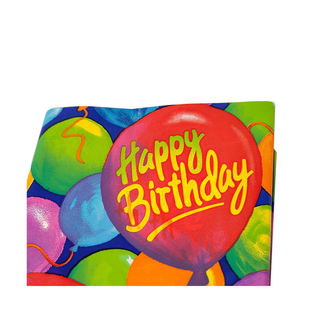Скатерть праздничная AMSCAN 1502-0522 Happy Birthday! 260 х 140 см. Полиэтилен Многоцветная Пакет Квант