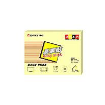 Стикеры бумажные самоклеющиеся Comix D5003 76х101 мм. 100 л. упак./12 шт. Жёлтый
