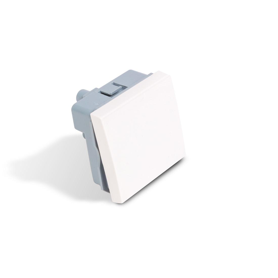 Выключатель модульный одноклавишный Рувинил АДЛ 13-904 45х45 мм белый