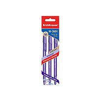 Ручка шариковая ErichKrause® 44595 R-301 Violet Stick&Grip 0.7 цвет чернил фиолетовый (в пакете 3 ручки)