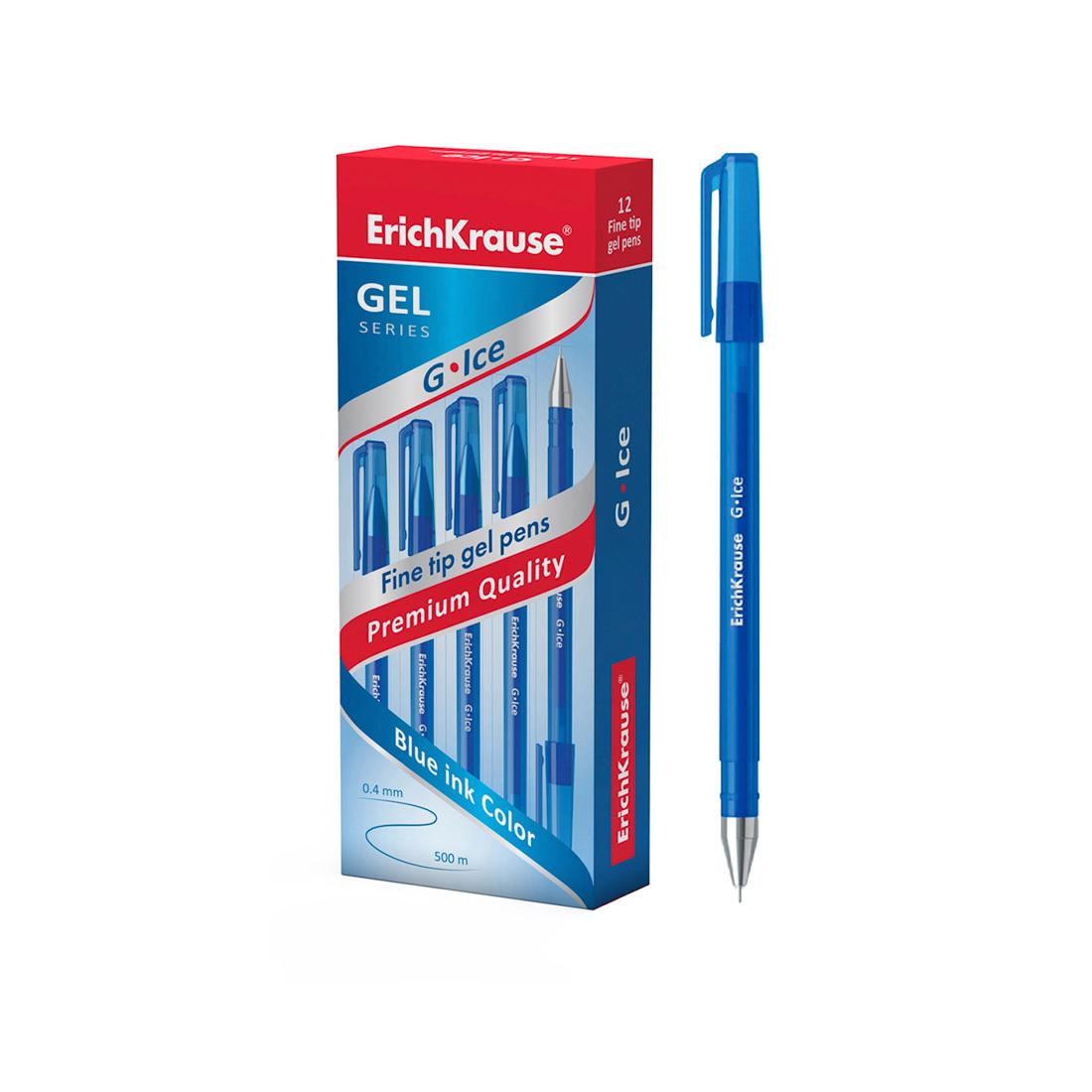 Ручка гелевая ErichKrause® 39003 G-Ice цвет чернил синий (упак./12 шт.)