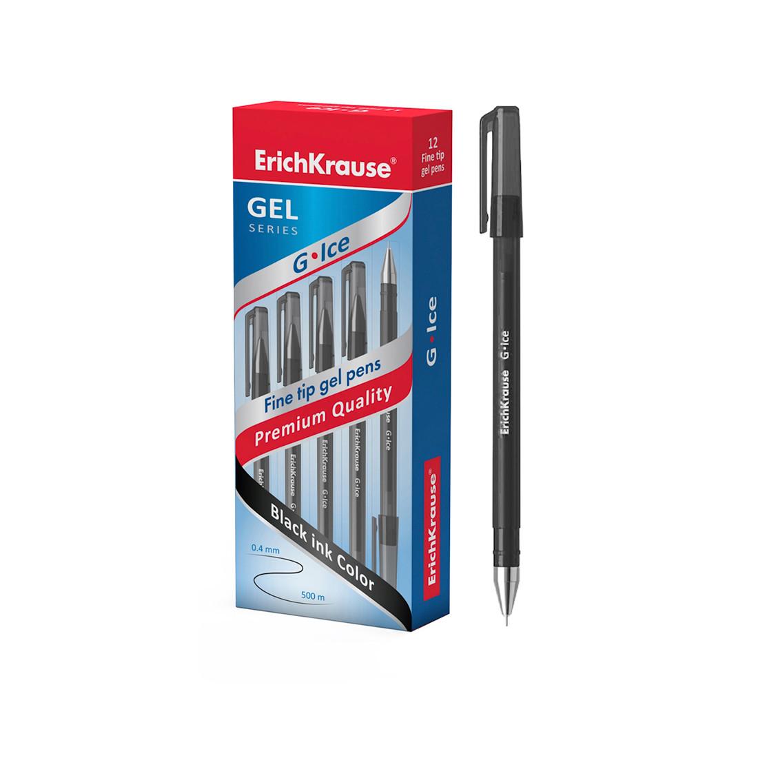 Ручка гелевая ErichKrause® 39004 G-Ice цвет чернил черный (упак./12 шт.)