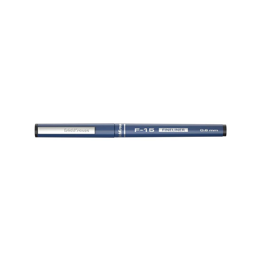Ручка капиллярная ErichKrause® 37066 F-15 цвет чернил черный (упак./12 шт.)