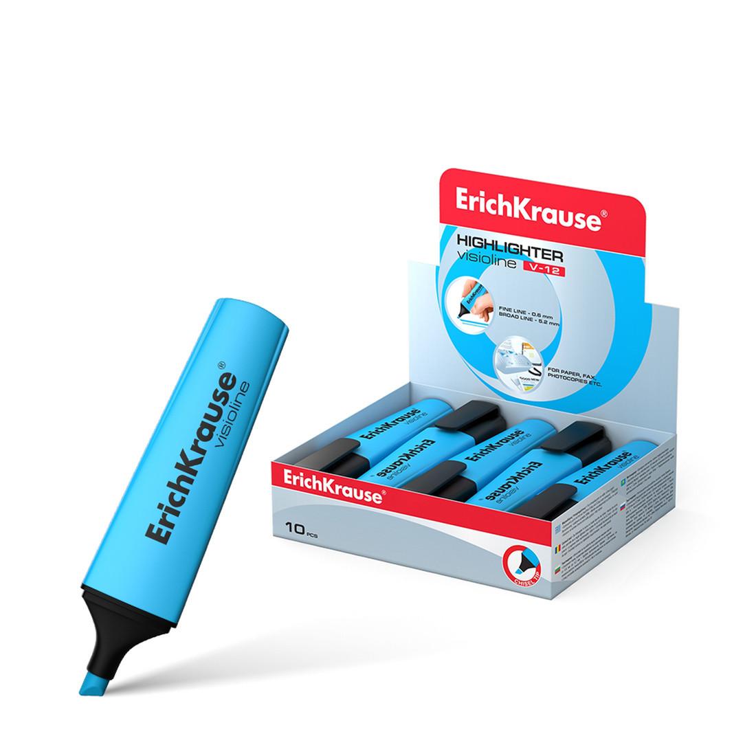 Текстмаркер ErichKrause® 32500 Visioline V-12 цвет чернил голубой
