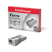 Металлическая точилка ErichKrause® 7074 Ferro цвет корпуса серебряный (в коробке по 24 шт.)