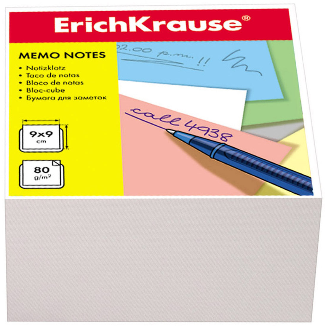 Бумага настольная ErichKrause® 2717 90x90x50 мм пленка 24 шт. белый