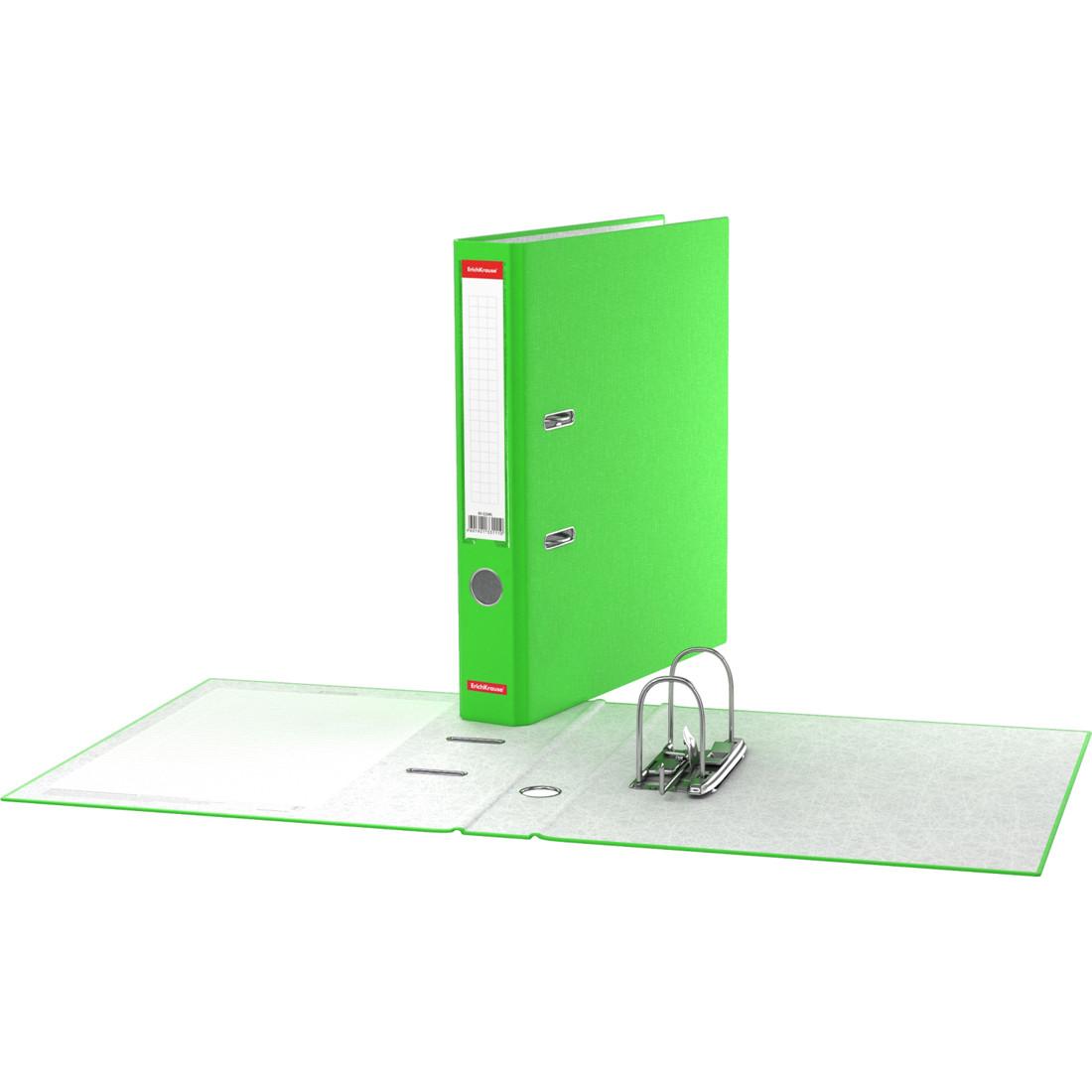 Папка–регистратор с арочным механизмом ErichKrause® 45393 Neon А4 50 мм зеленый
