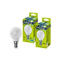 Эл. лампа светодиодная Ergolux LED-G45-7W-E14-3K Шар Тёплый