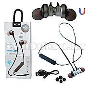 Спортивные Блютуз наушники Evisu W13 sports wireless earphones c магнитным креплением серые