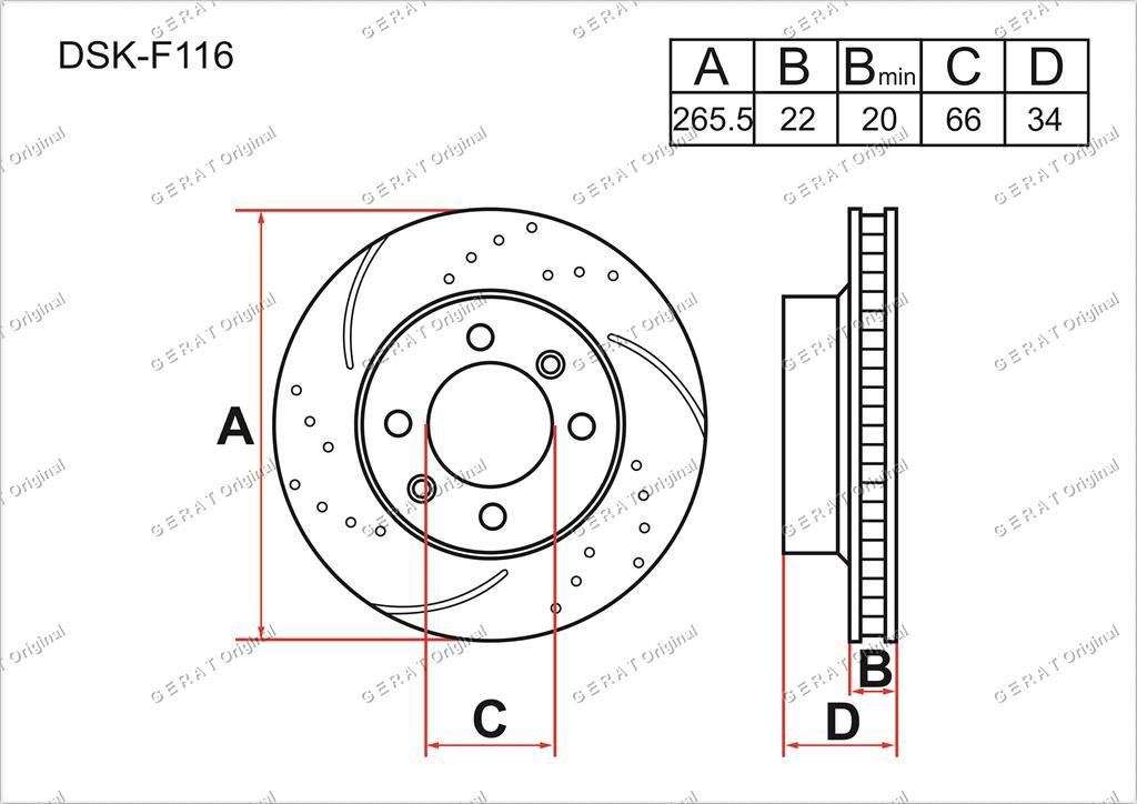 Диск тормозной передний комплект (2шт.) 00004246W1