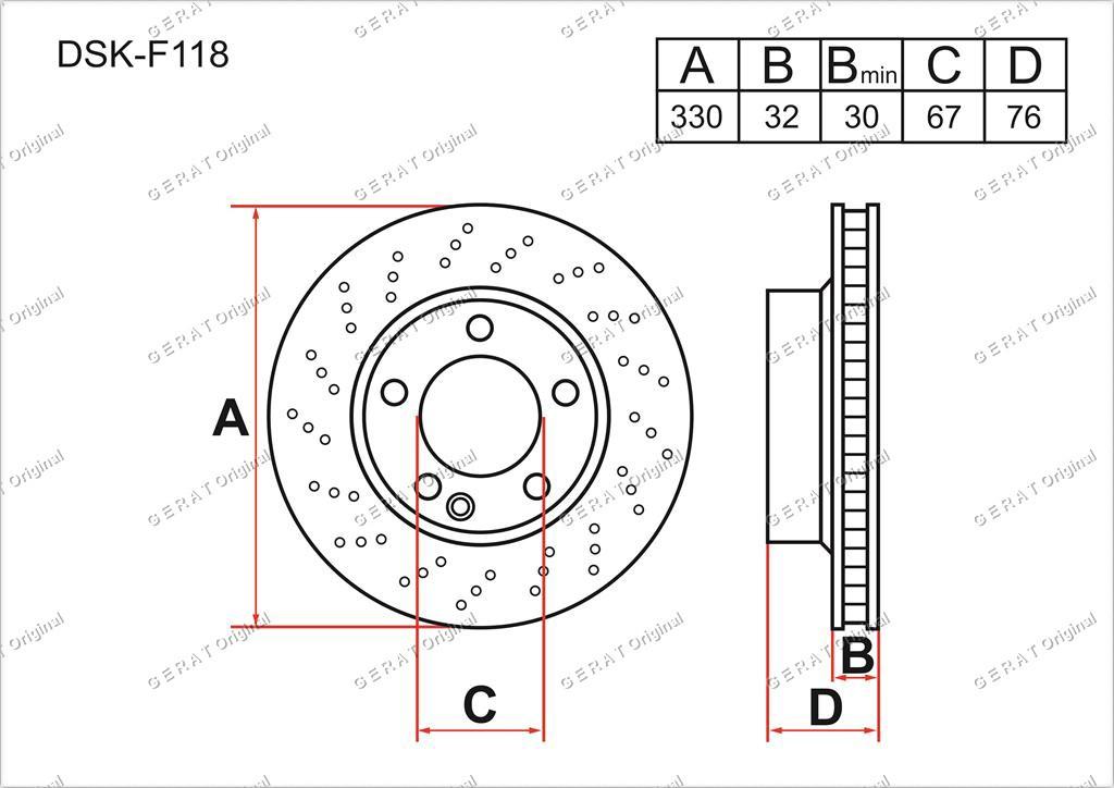 Диск тормозной передний комплект (2шт.) A2204210812