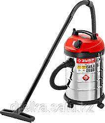 Строительный пылесос ЗУБР ПУ-30-1400 М3, МАСТЕР, модель М3-30, 30 л, 1400 Вт, сухая и влажная уборка