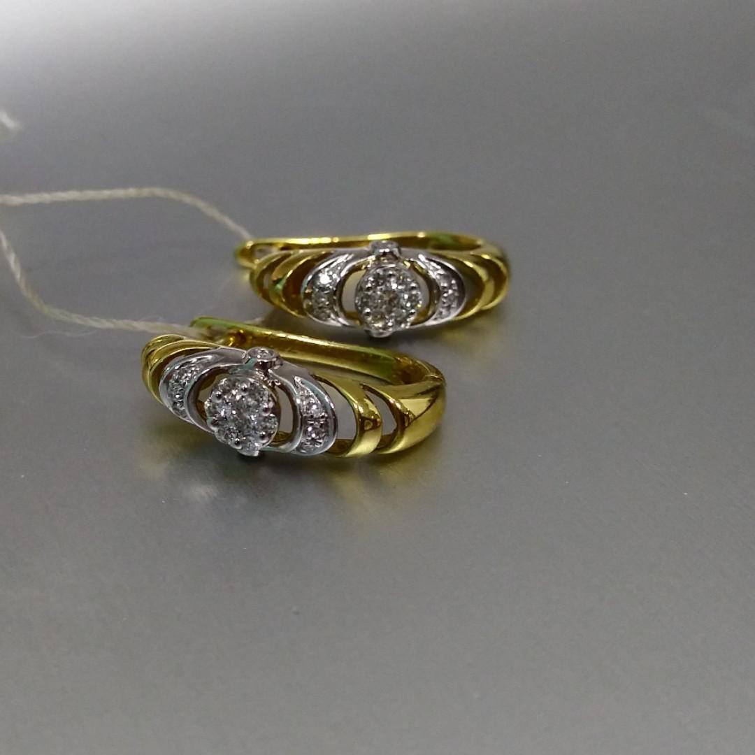 Комплект «Анжелика» с бриллиантами / жёлтое золото - фото 3