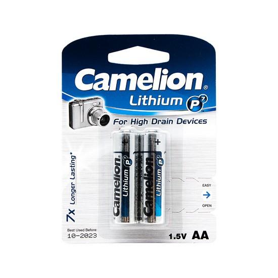 Батарейка CAMELION FR6-BP2 Lithium P7 AA 1.5V 3000 mAh 2 шт. Блистер