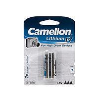 Батарейка CAMELION FR03-BP2 Lithium P7 AAA 1.5V 1250 mAh 2 шт. Блистер