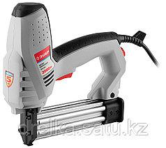 Степлер электрический ЗУБР ЗСП-2000, регулятор силы удара, скоба 15-25мм, гвоздь 15-30мм, 2000 Вт.