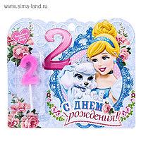 """Свеча в торт Дисней """"2 года"""", Принцессы: Золушка"""