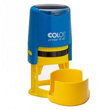 Оснастка для печати с круглым оттиском Colop R40 (сине-желтый цвет)