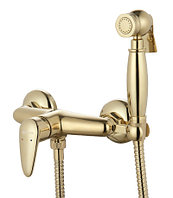 LM3318G Смеситель настенный с гигиеническим душем, золото
