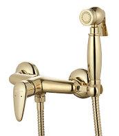 Смеситель настенный с гигиеническим душем, золото LM3318G