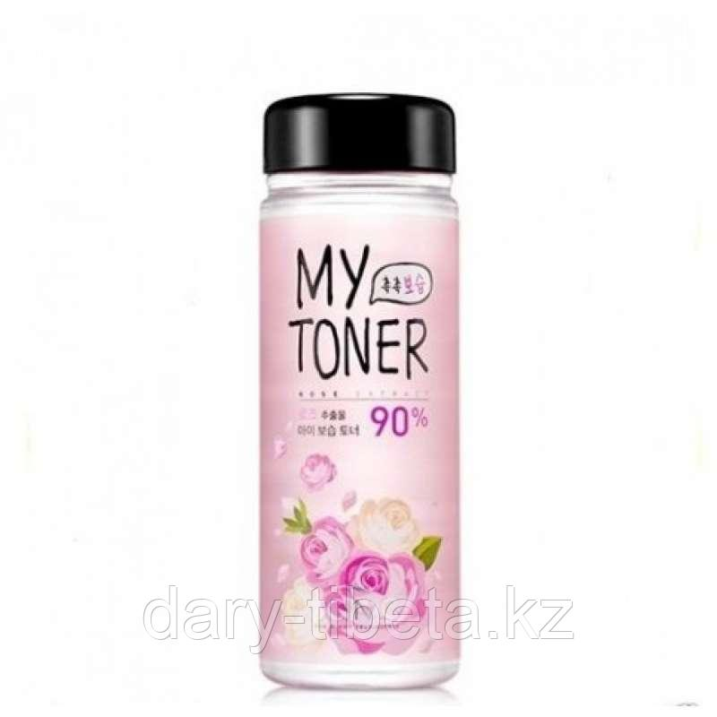 Scinic My Toner Rose 90%- Успокаивающий тонер  для лица 90%
