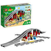 Lego Duplo 10872 Конструктор Железнодорожный мост и рельсы, фото 1