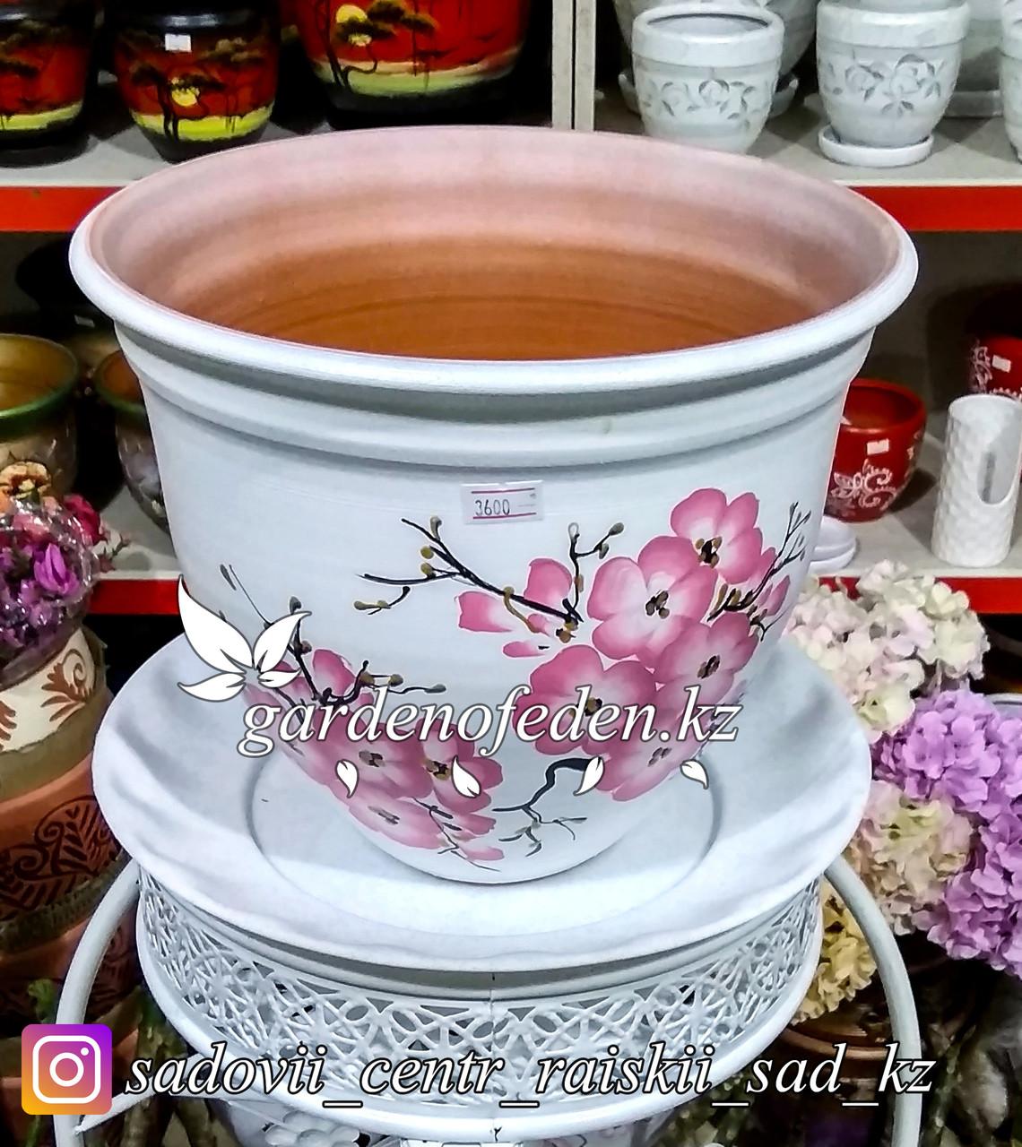 Керамический горшок для цветов. Объем: 5л