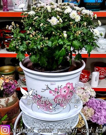 Керамический горшок для цветов. Объем: 5л, фото 2