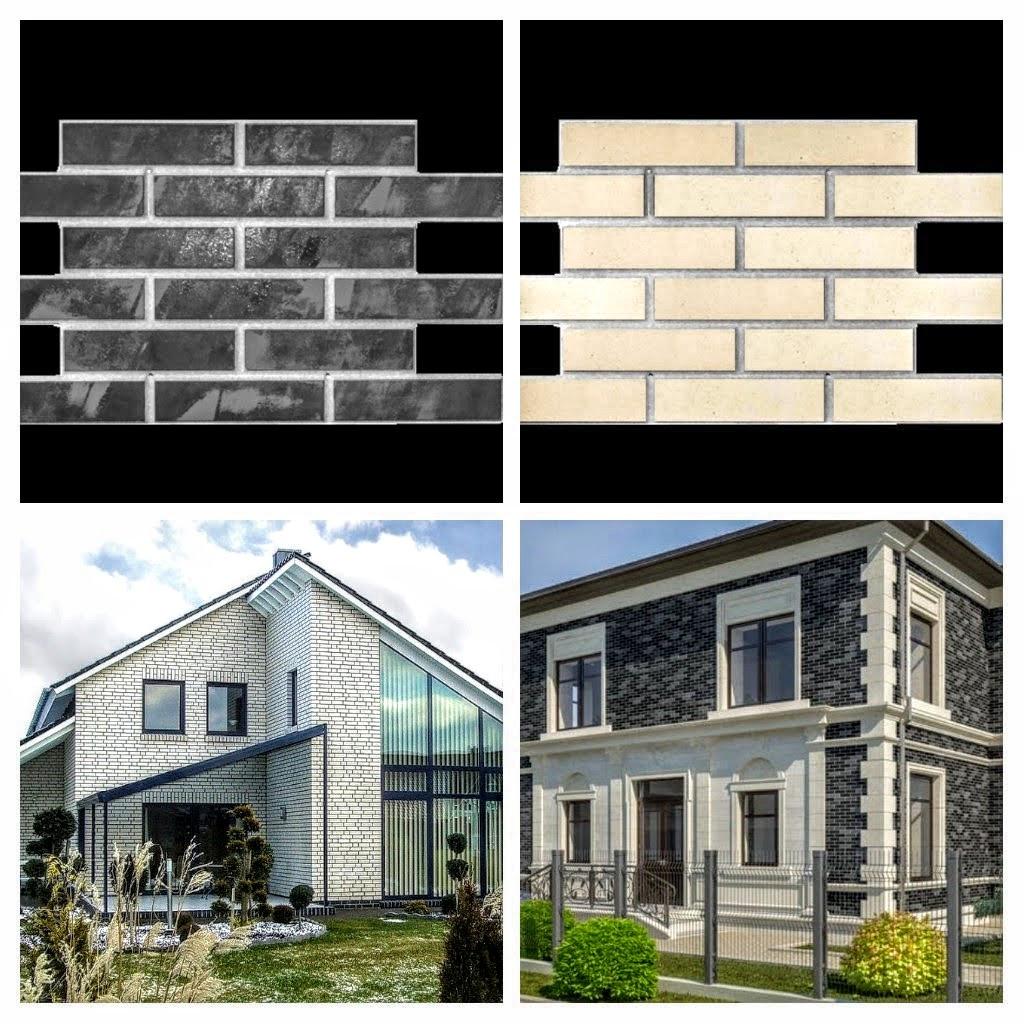 Фасадные облицовочные бетонные панели под кирпич