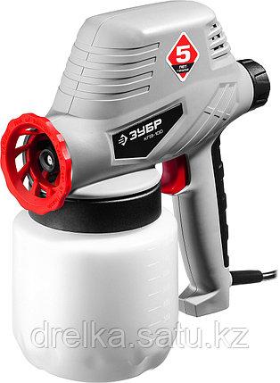 Краскопульт электрический ЗУБР КПЭ-100, 100 Вт, 0.8 л, краскоперенос 0-300 мл/мин, вязкость краски 60 DIN/сек, фото 2