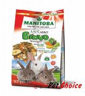 Manitoba MY RABBIT BRAVO корм для карликовых кроликов с фруктами и овощами 600 гр.