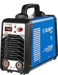 Сварочный аппарат инвертор ЗУБР ЗАС-Т3-250-Д, ЭКСПЕРТ,T3, 250А, MMA/TIG LIFT, IGBT, VRD,, ПВ-60%, 1*220В