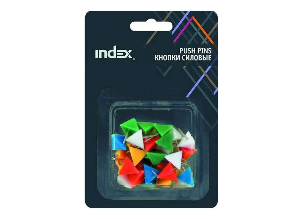 """Кнопки силовые INDEX """"Пирамида"""" 21 мм, 30 штук в упаковке"""