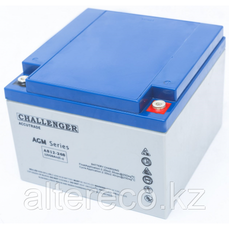 Тяговый аккумулятор Challenger EV12-26 (12В, 26Ач)