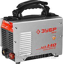 Сварочный аппарат инвертор ЗУБР ЗАС-М3-140, МАСТЕР, М3, 140А, MMA, IGBT, ПВ-30%, 1*220В (мин 180В) , фото 2