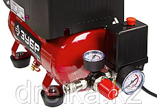 Компрессор воздушный поршневой ЗУБР ЗКП-180-6-1.1-Н3, МАСТЕР, безмасляный, 180л/мин, 6л, 8Атм, 1100Вт, 220В, фото 3