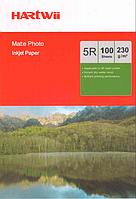 Фотобумага 5R для прин. 230 гр.Hartwii 100л. матт.