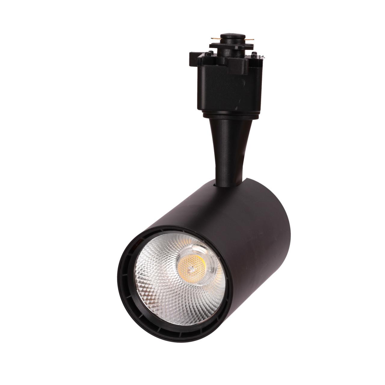 Трековый светодиодный светильник LD-15W  СОВ-диод, черный