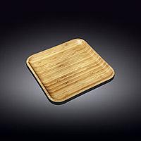 Тарелка бамбук 33х33см WL-771026