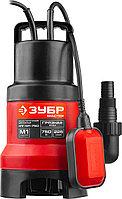 Насос дренажный погружной для грязной воды ЗУБР НПГ-М1-750, МАСТЕР, М1 (d частиц до 35 мм), 750 Вт.