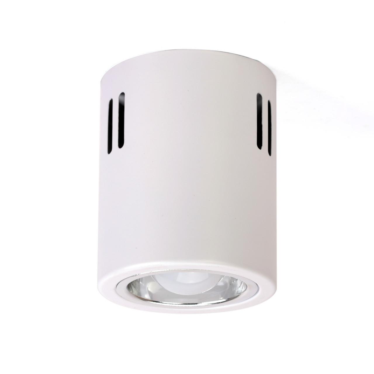 Накладной светодиодный светильник LD-7W LED  E27(в комплекте), потолочный цилиндр, белый