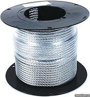 Трос стальной оцинкованный DIN 3055 c оплеткой ПВХ 5 мм. (100 м.)