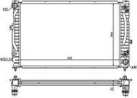 Радиатор Ауди A4/S4 2.4/2.5TD/2.6/2.8 94-00//Ауди A6/S6 2.4/2.7T/2.8 97-04//VW PASSAT B5(96-05)//SKO
