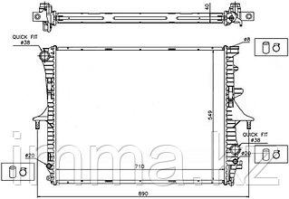 Радиатор Ауди Q7 06-//VW TOUAREG/PORSCHE CAYENNE 02-10