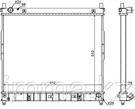 Радиатор SSANGYONG/дэу REXTON 2.7TD 02-