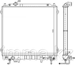 Радиатор HYUNDAI TERRACAN 2.9TD 01-07