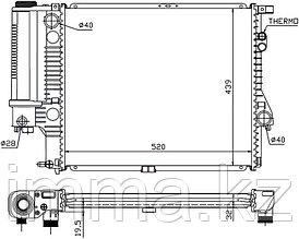 Радиатор БМВ 5-SERIES E39 2.0/2.3/2.8 95-03