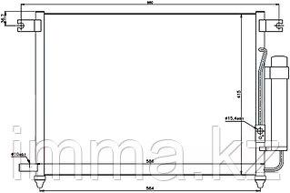 Радиатор кондиционера Шевроле AVEO 1.4 05- / дэу KALOS 1.4 02-