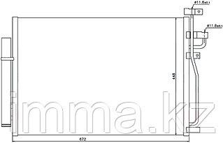 Радиатор кондиционера Шевроле CAPTIVA/OPEL ANTARA 2.4/3.2 06-